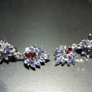 OOAK: Iolite and Rhodilite Garnet Earrings c5